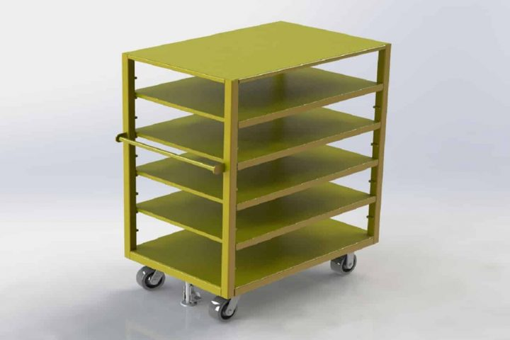 Cart with Shelves