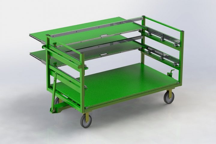 green-slidout cart