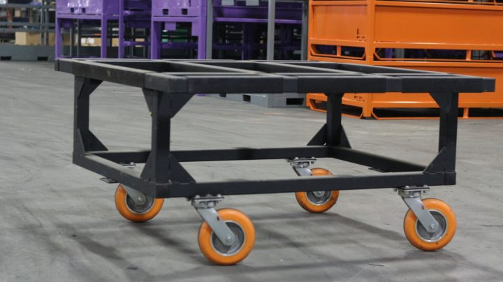 BLACK CART WITH CASTERS