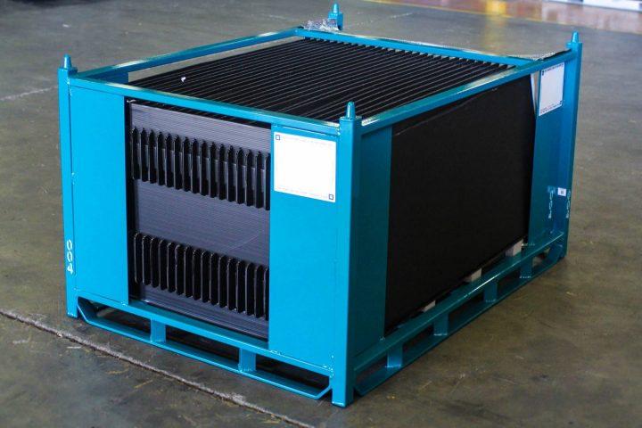 Blue Shipping Rack