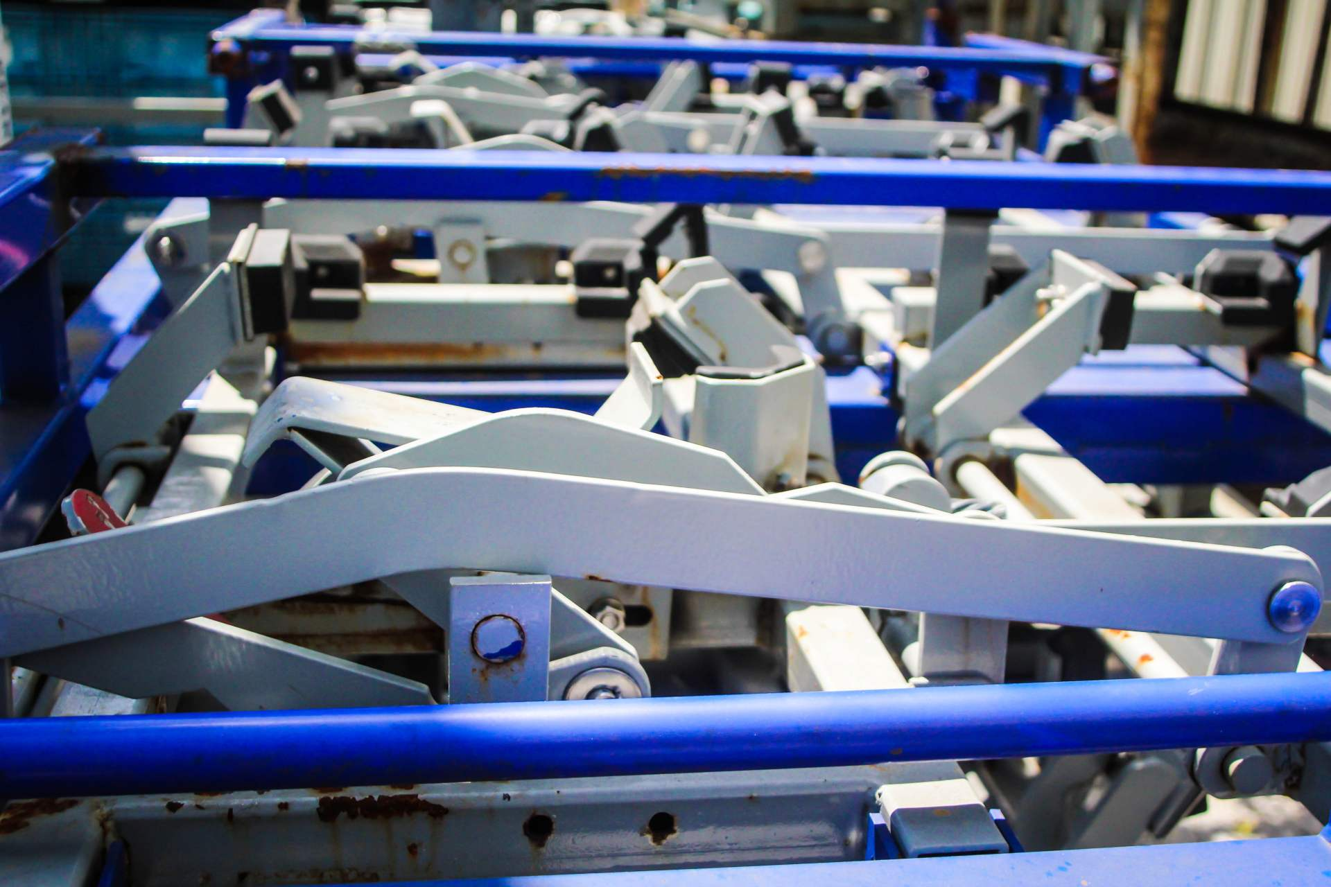 Blue Collapsible Racks
