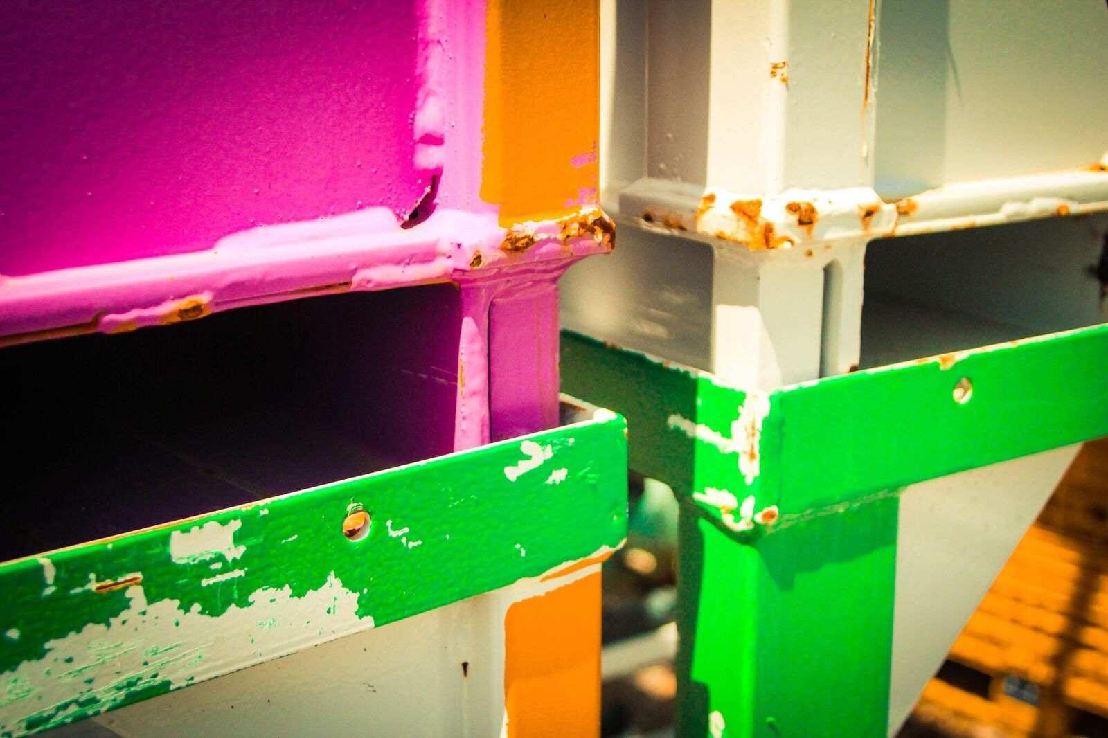Colorful Steel racks